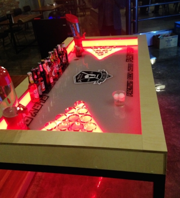Legit beer pong table table at our favorite sports bar in Sejong!