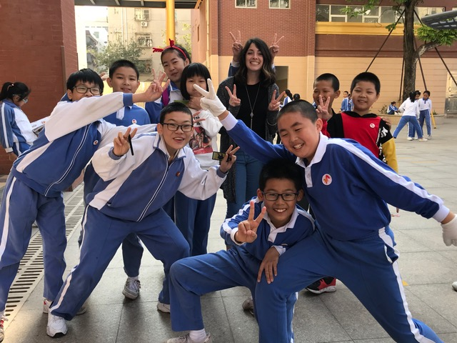 Me and just a few of my students in Shenzhen, China!