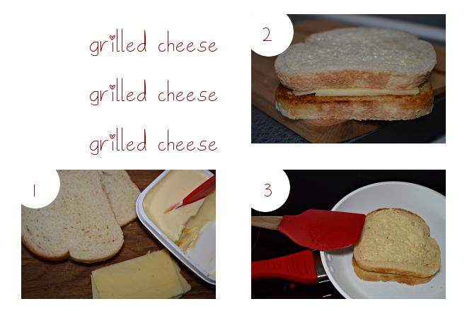 Grilled cheese steg för steg.