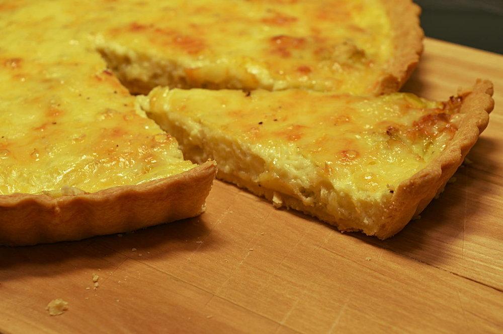 Purjolöks- och ostpaj