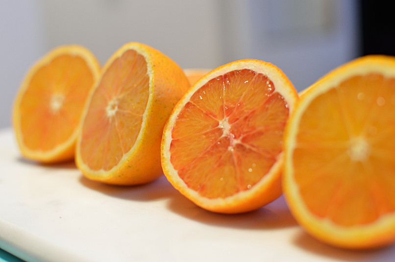 inte allt för röda apelsiner