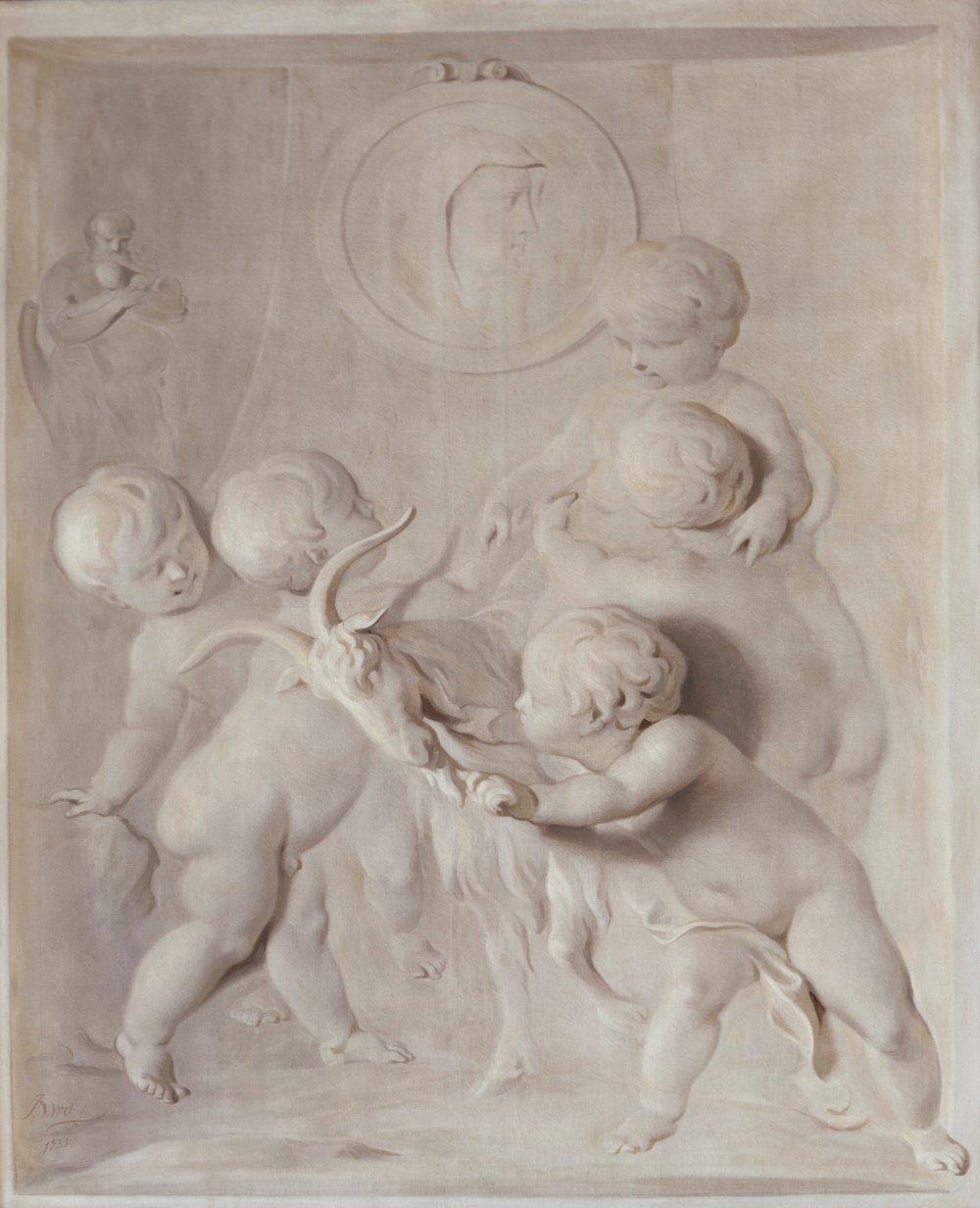 'Voorzichtigheid', Jacob de Wit 1735 Foto: Martijn Gijsbertsen