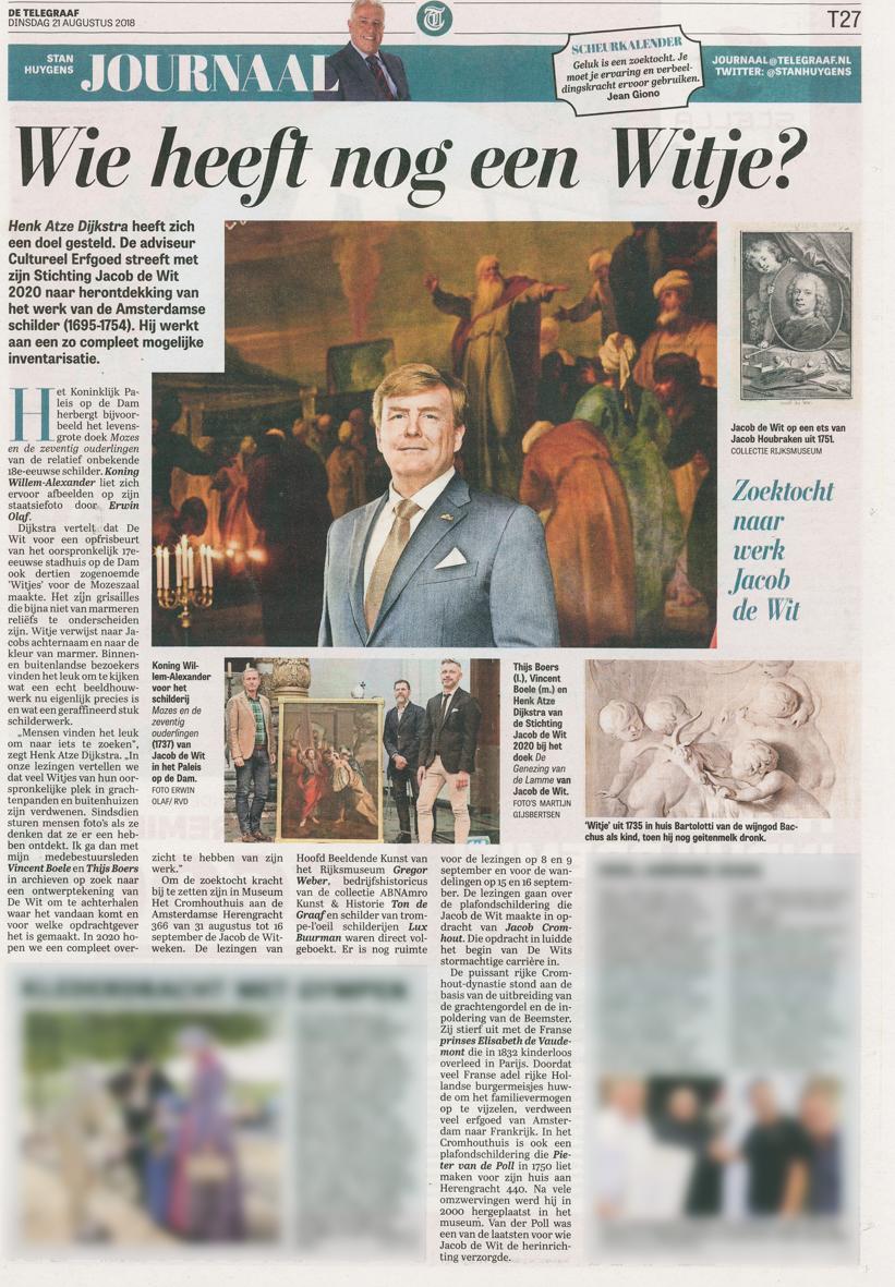 Stan Huygens Journaal, De Telegraaf