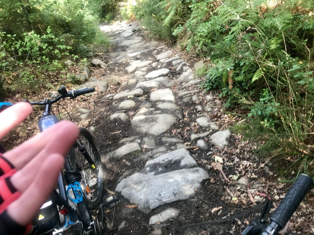 Path where you need to hike your bike