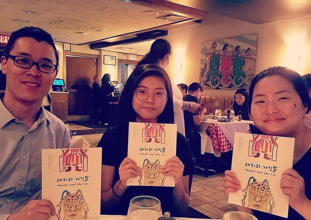 The author of our book project visits New York and brings us final copies!