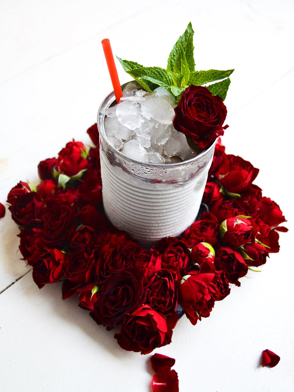 Mint Rose Petal Julep | drinkingwithchickens.com