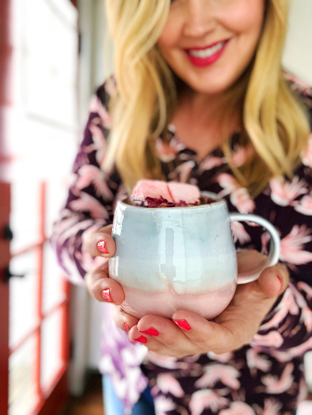 Rose + Rosé Hot Chocolate | drinkingwithchickens.com