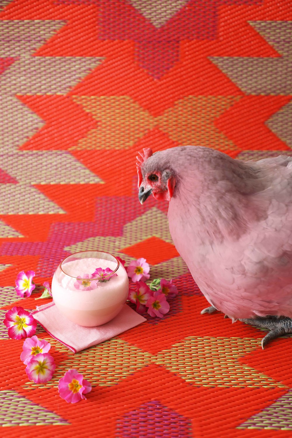 Pink Nog because Christmas | drinkingwithchickens.com #eggnog