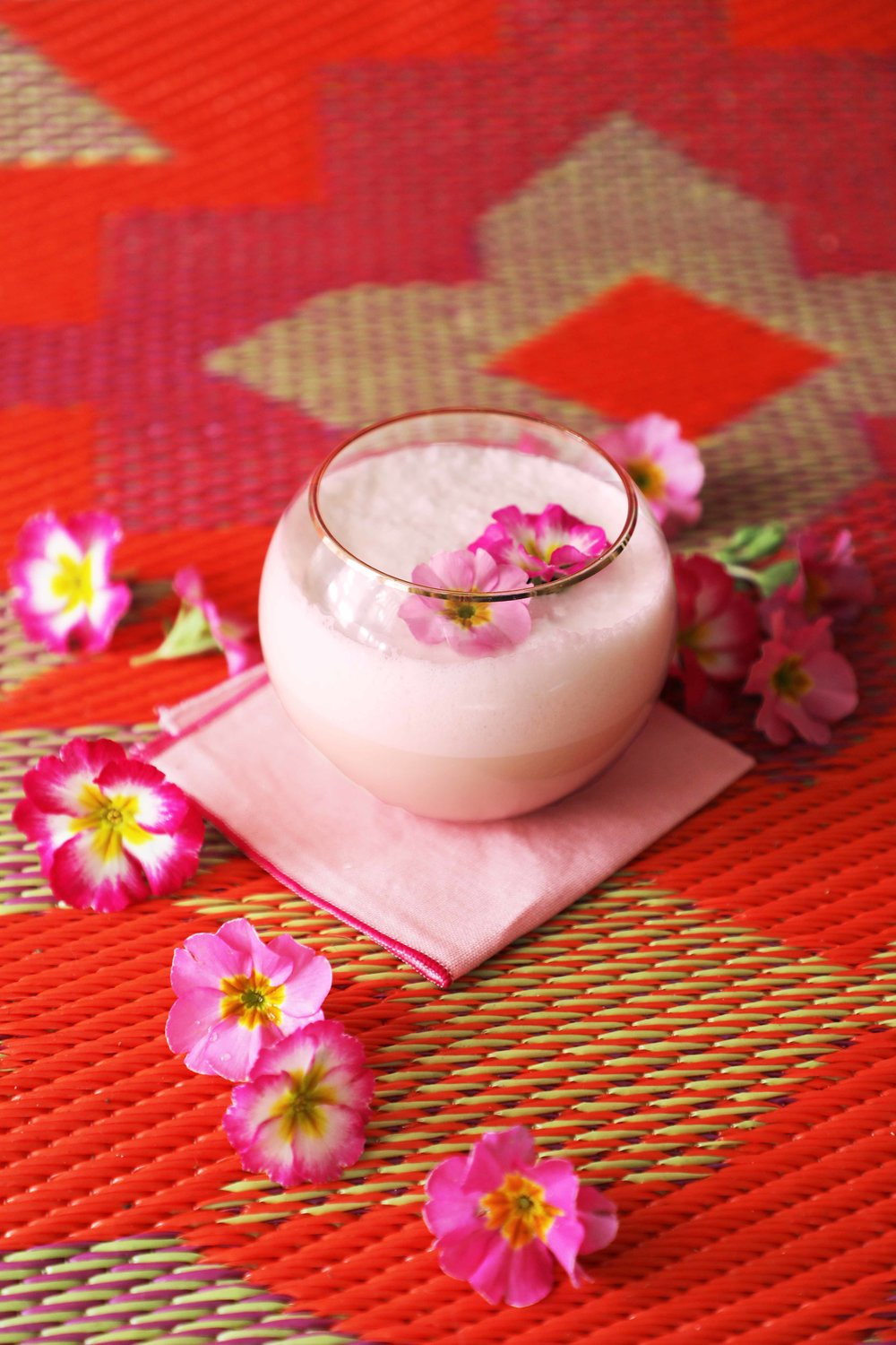 Pink Nog, because: CHRISTMAS | drinkingwithchickens.com #eggnog