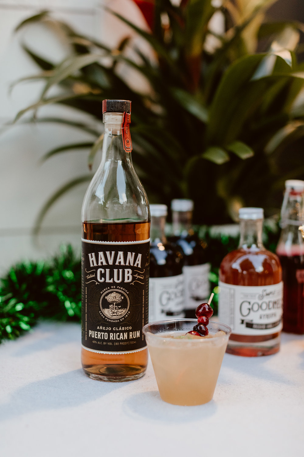 Havana Club Rum drinks at our Holiday Tiki Party | drinkingwithchickens.com