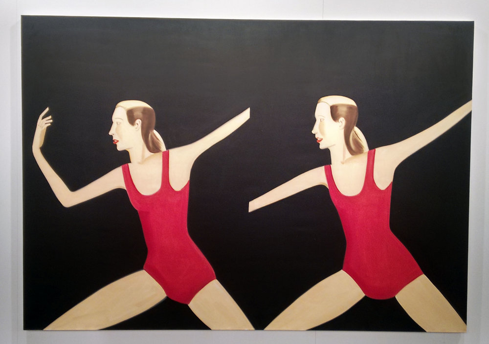 Obra de    Alex Katz    en la    Galería Javier Lopez & Fer Frances