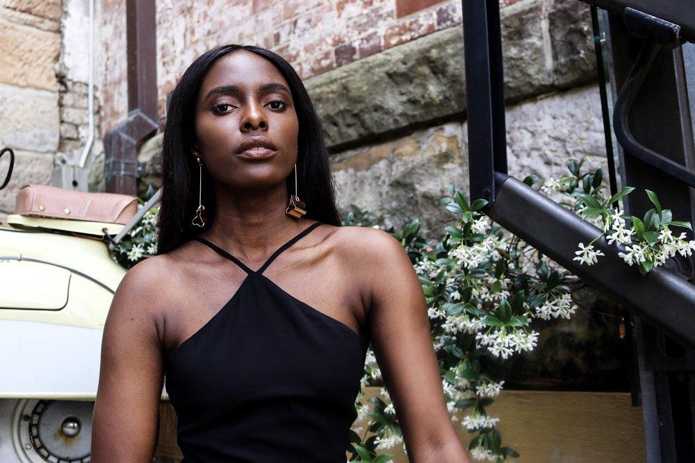 Tobi rise above lace up maxi dress