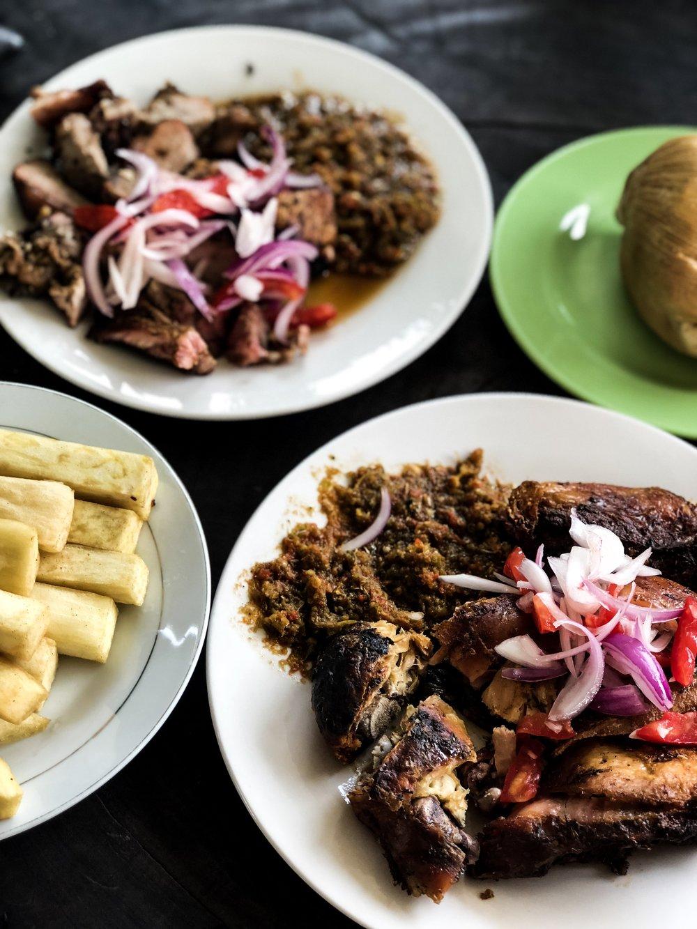 Ghana fried yam and shito