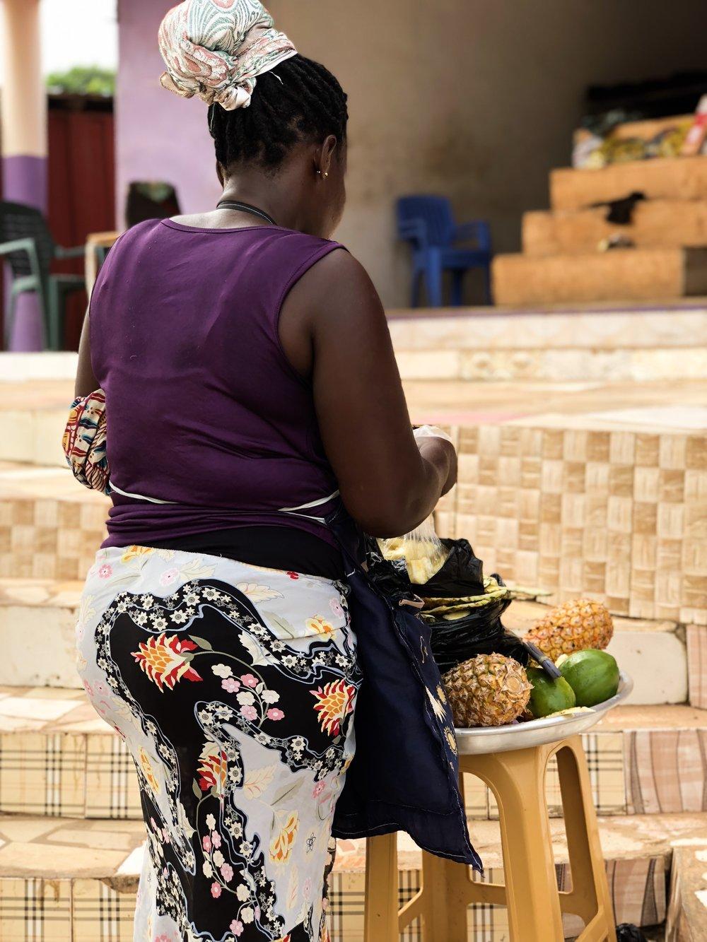 Ghana pineapple seller