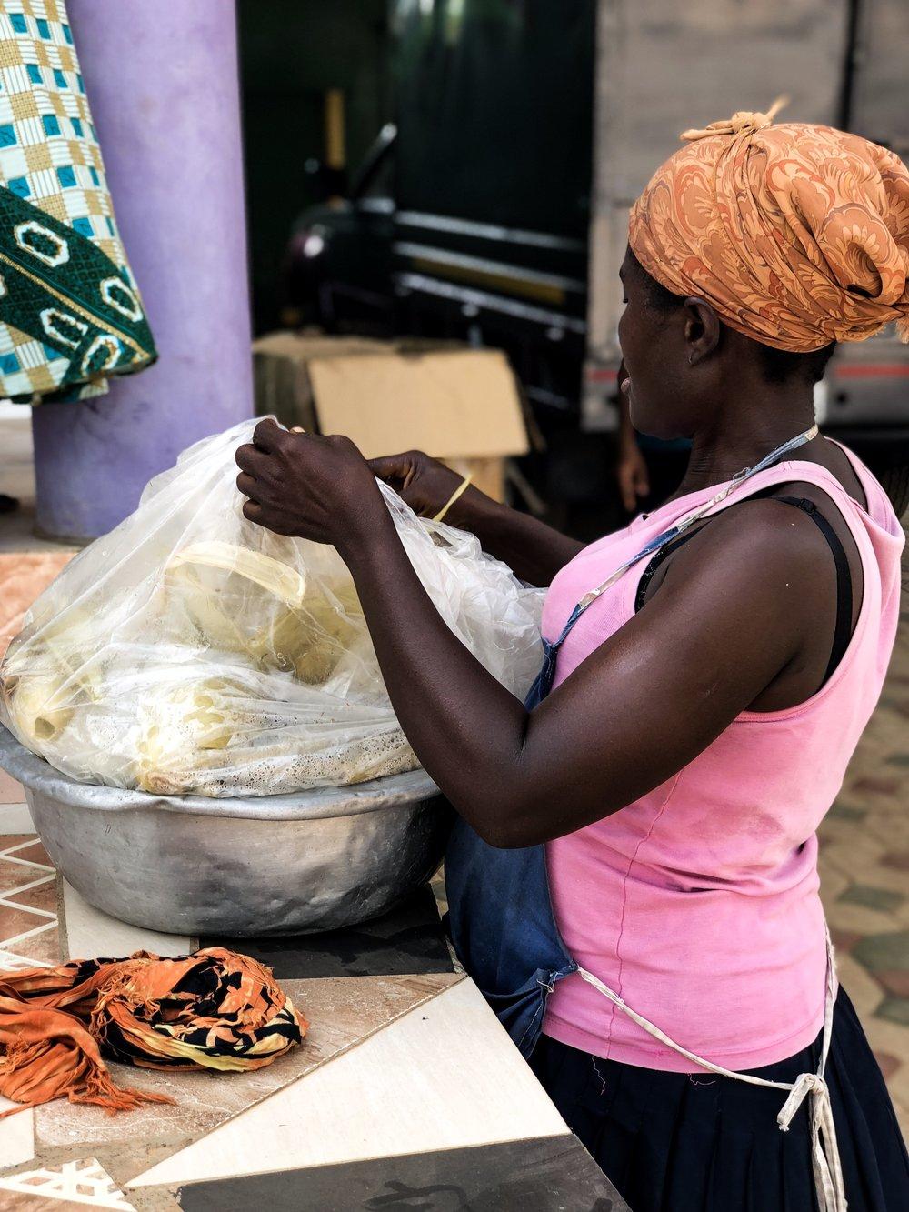 Ghana corn seller
