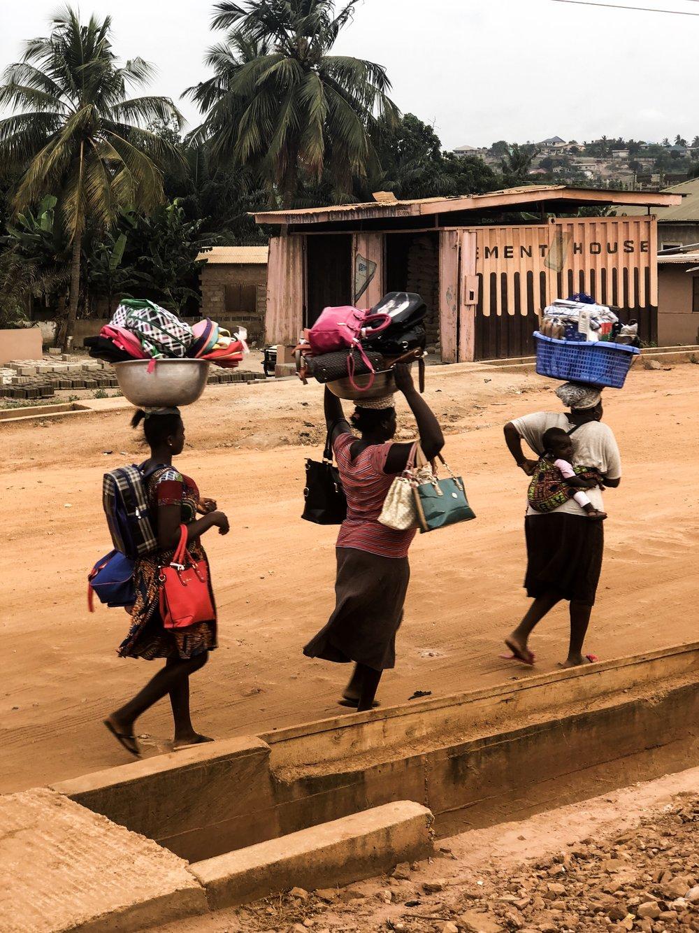 Ghana street entrepreneurs