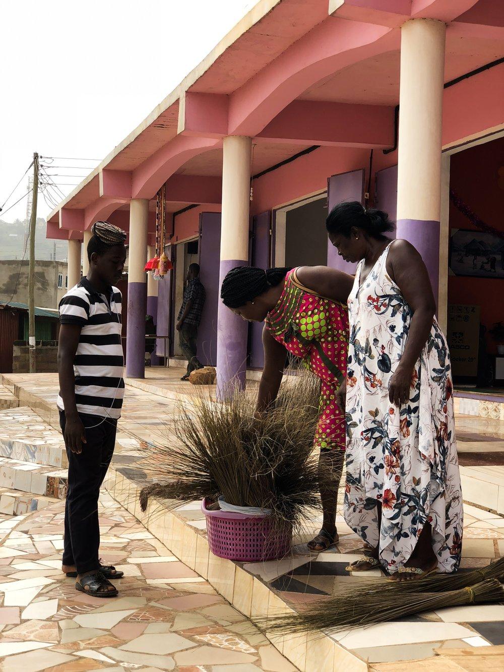 Ghana broom seller