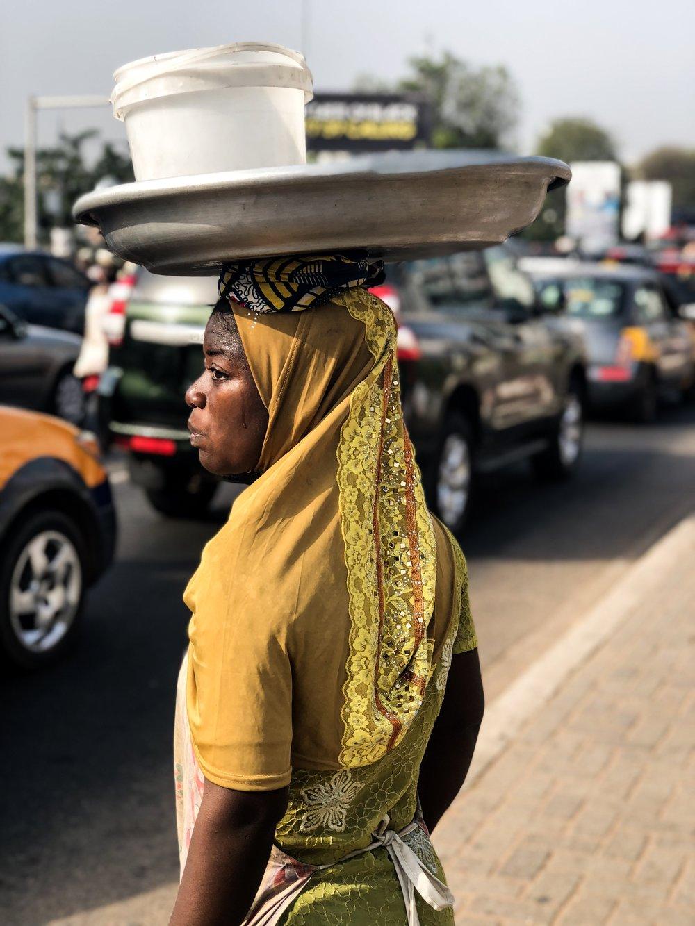Ghana street seller