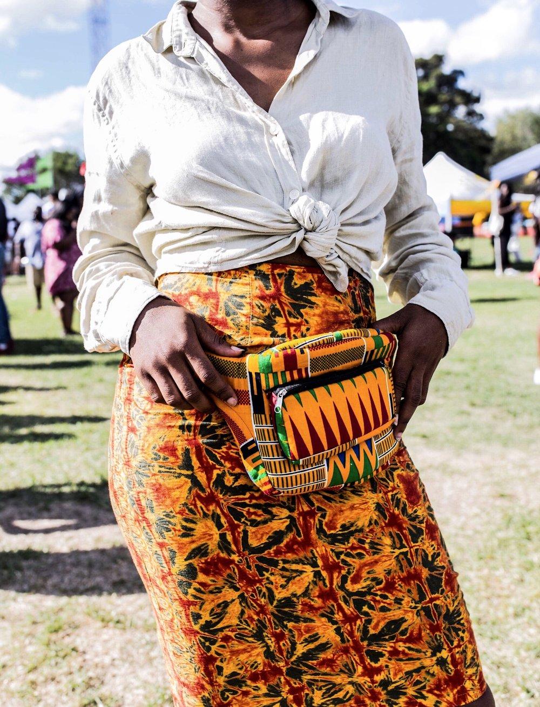 African print bumbag