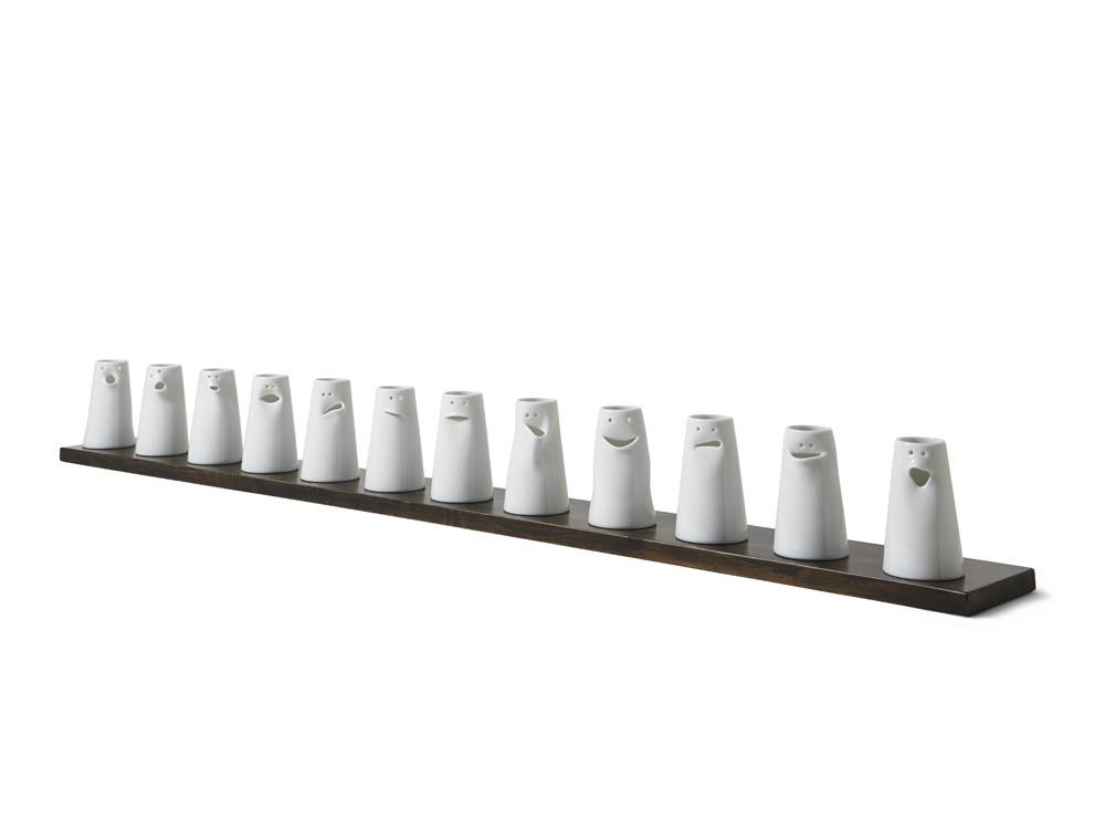 Spin Ceramics -12 FACES VASE SET
