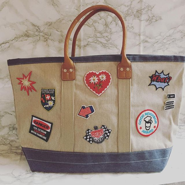TotemCo on Etsy is Open! No two totes are alike!  #totebag #patches #oneofakind