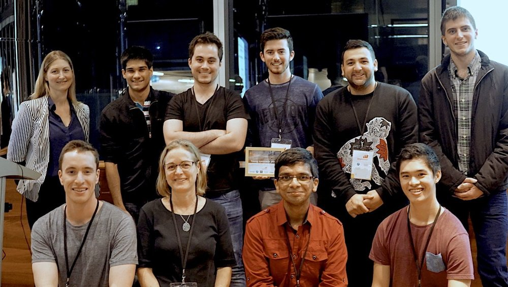 Team Operation Clear Skies win the Young Innovators Award at Unearthed MineHack Perth