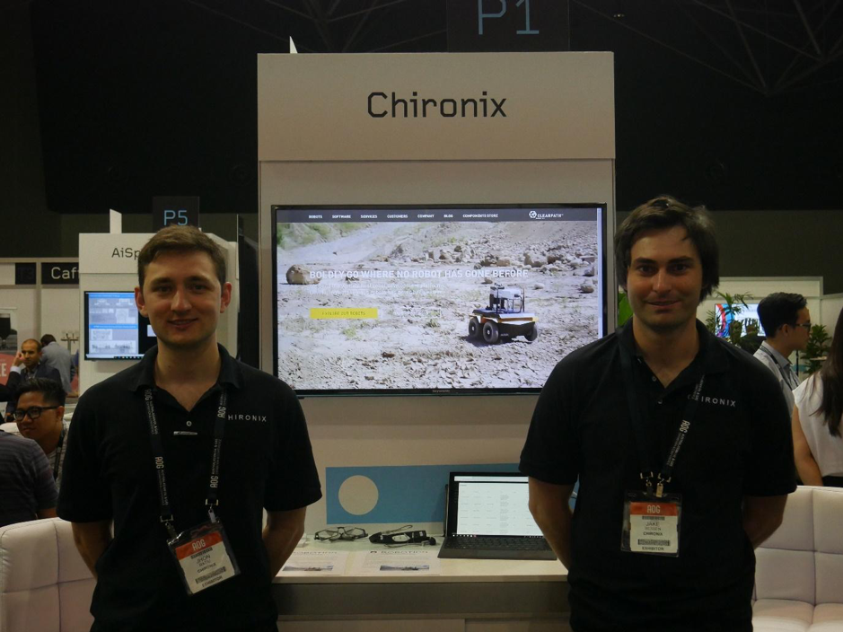 Jhon and Jake from Chironix manning the booth