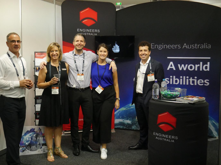 The crew at the Engineers Australia Booth
