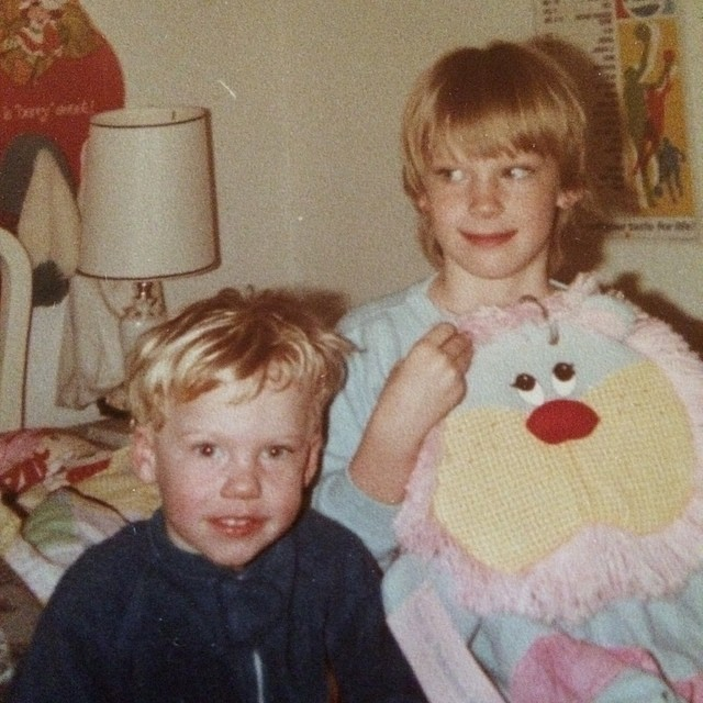 Childhood_Room: An image of my brother and I in my childhood bedroom. Lots of Strawberry Shortcake involved.