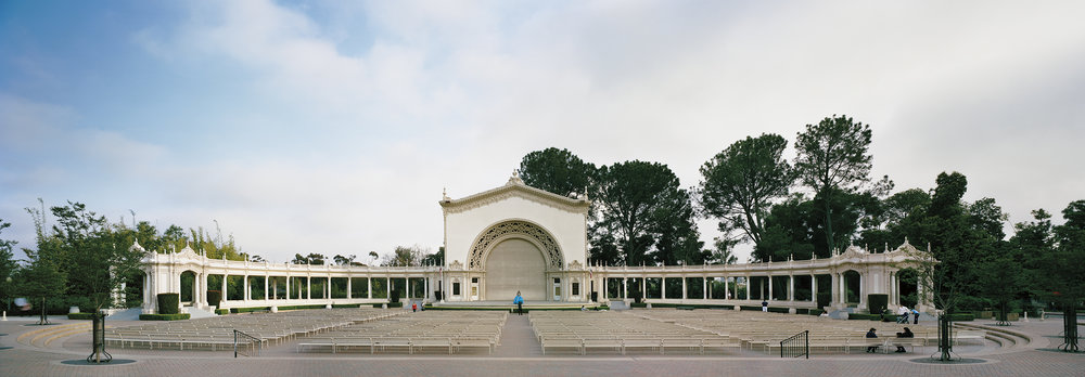 "San Diego 1915 World's Fair, ""Panama-California Exposition,"" Spreckels Organ Pavilion    23' x 8' 2015"