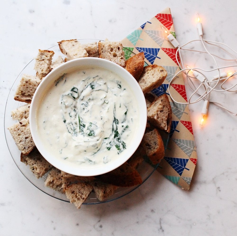dairy-free spinach dip -