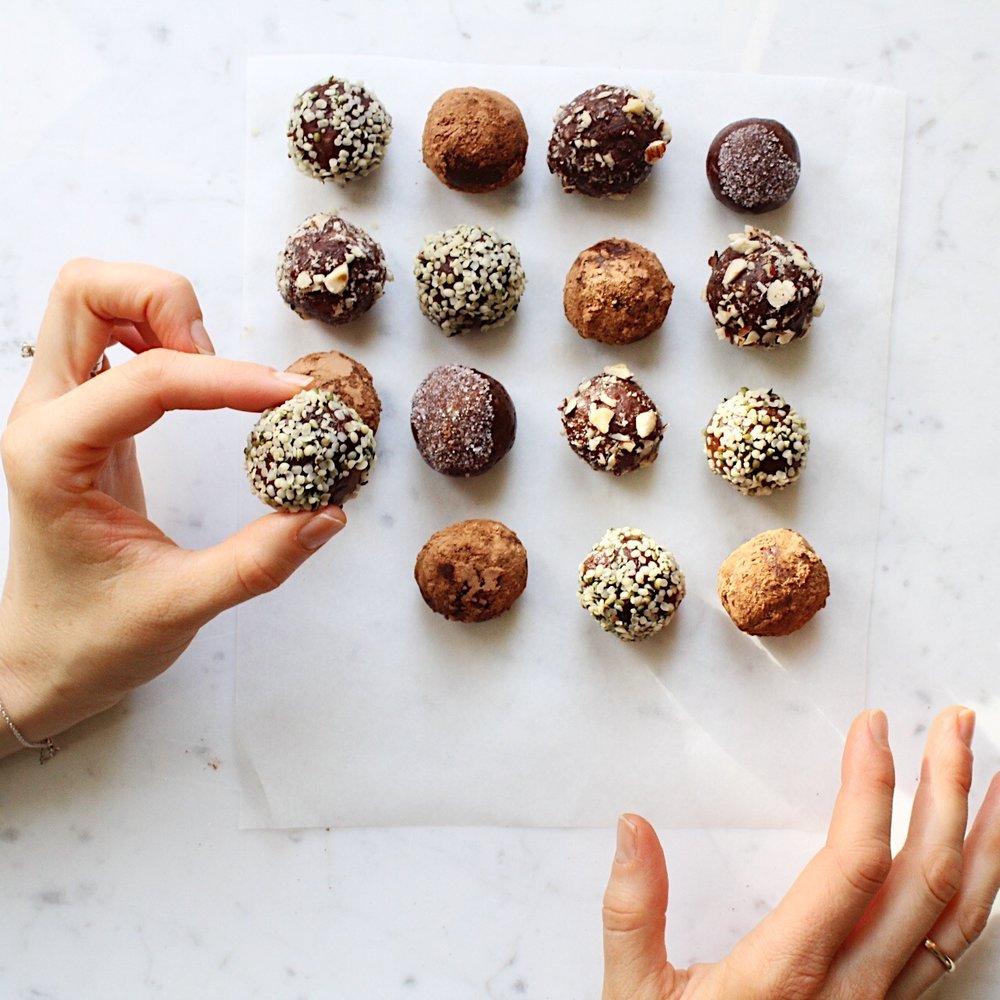 No-bake chocolate truffles -