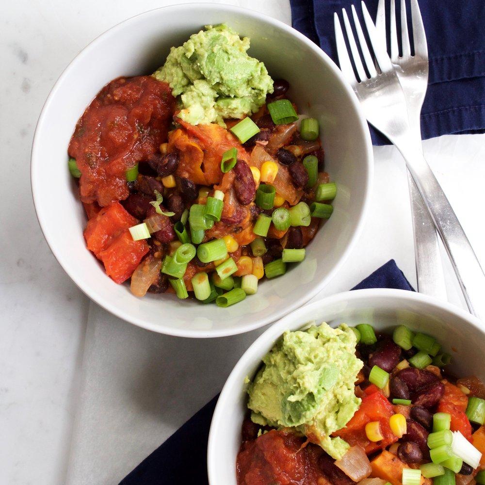 one-pot vegetable chili -