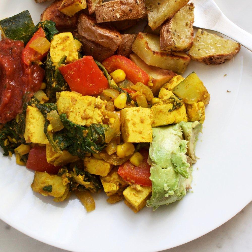 Ben's southwestern tofu scramble -