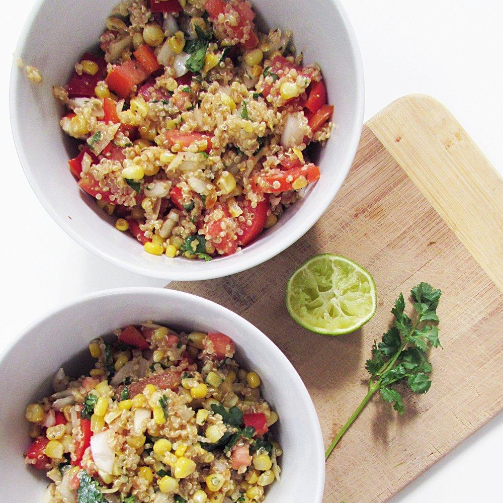 sweet summer corn salad -