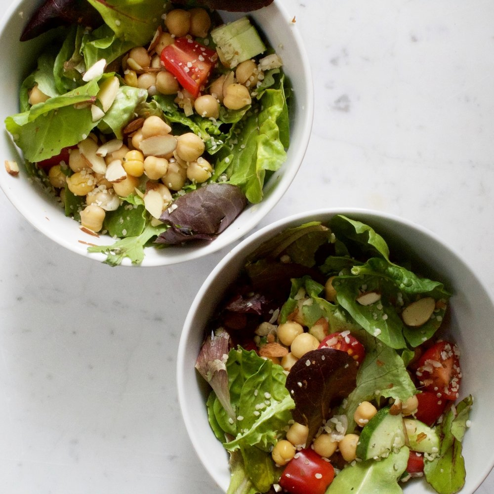 easy chickpea salad -