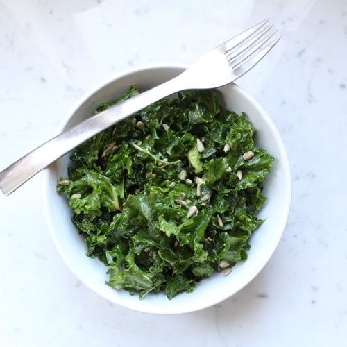 how to massage kale -
