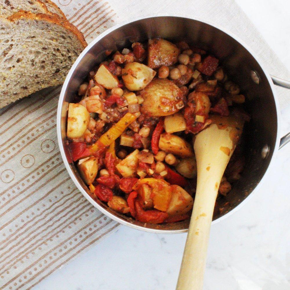 Winter Chickpea Potato Stew -