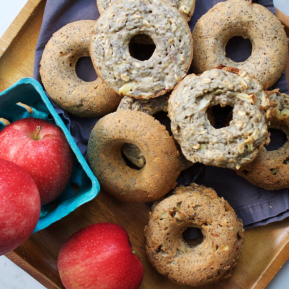 apple candy doughnuts -