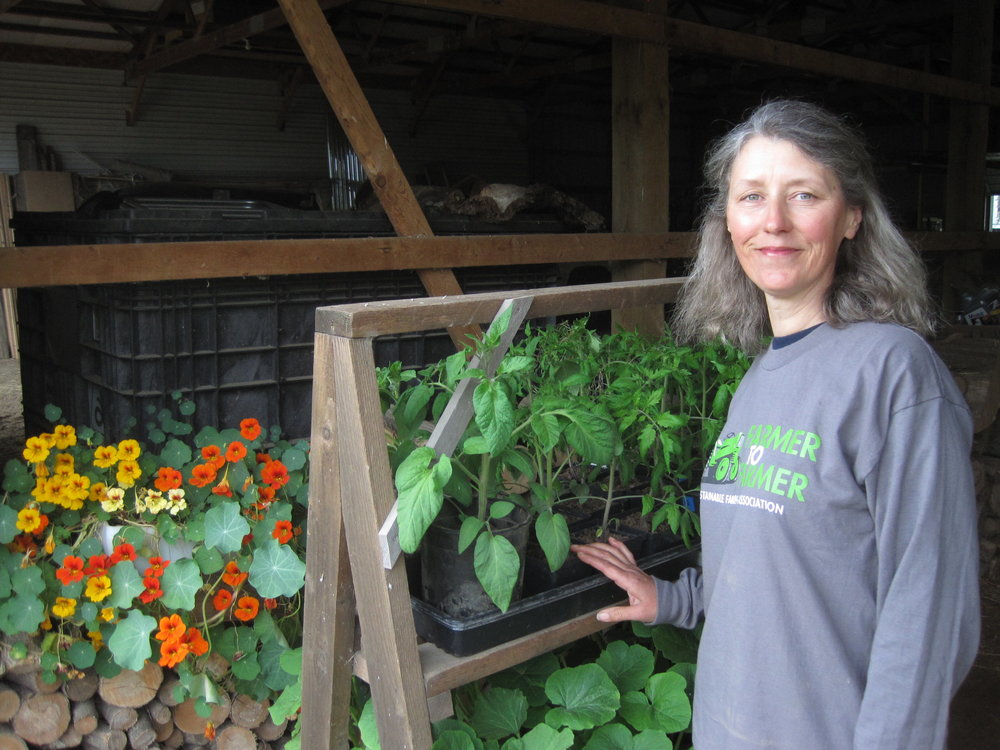 Sue Wika, Head grower at reality greenhouse