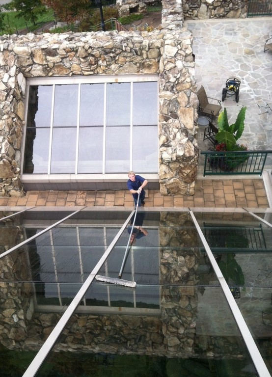 Sky Clean Window Cleaner at the Grove Park Inn