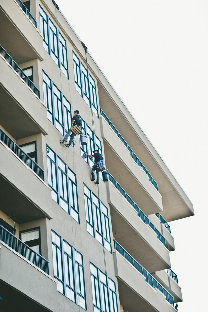 Two High Rise Sky Clean Commercial Window Cleaners