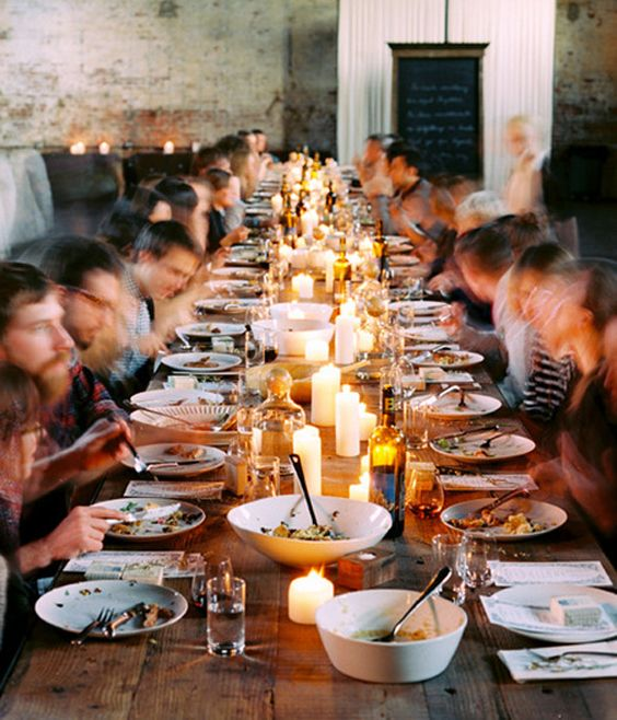Dinner Party for 26 Friends at a Reunion.