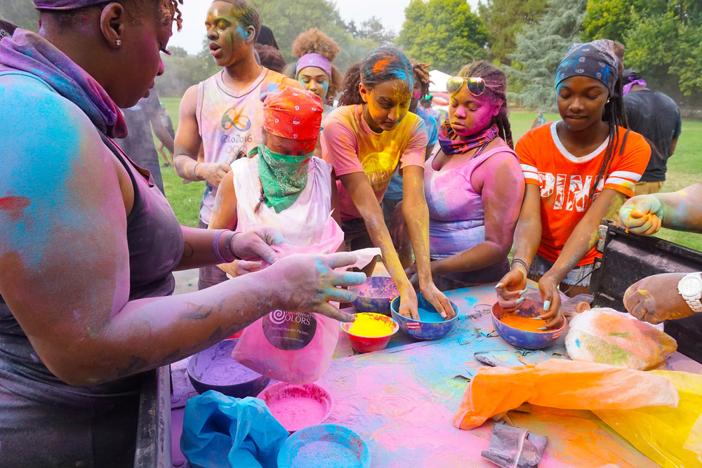 Teens culminate their week long cultural celebration camp in a celebration of colors.