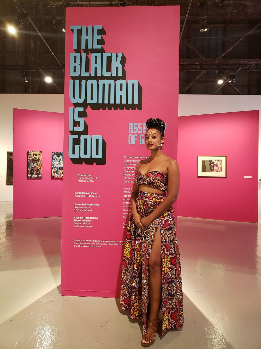 Current Show - The Black Woman Is GodSOMArts Cultural Center | San Francisco, CAGroup ShowAug 31- Oct. 2, 2018