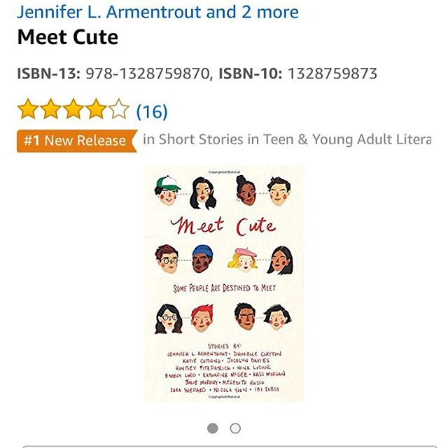 MEET CUTE is a #1 new release in short stories/Teen and YA literature on @amazon! Have you read it yet? Did you 💕 it? Pretty please leave some love in the reviews! * * * #meetcute #yalit #yabooks #yashortstories #anthology #lovestories #nyc #romcom #bookstagram #yabookstagram #booksofinstagram #writersofinstagram #writersofig #writerlife #bookworm #booklove #booknerd #booknerdigans #hmhteen