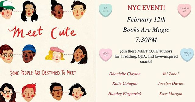 Be my valentine, NYC!  This Monday 7:30 @booksaremagicbk 💕✨💕✨ #meetcute #valentinesday #galentinesday #yalit #yabooks #shortstories #lovestories #ireadya #booklove #bookworm #booknerdigans #booksofinstagram #writersofinstagram #writersofig #bookstagram #yabooks #yabookstagram #booksaremagic #bookevent #reading