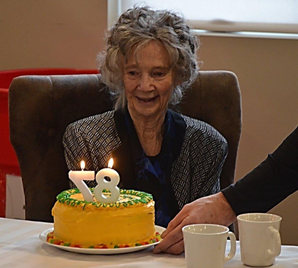 Morma and her cake.jpg