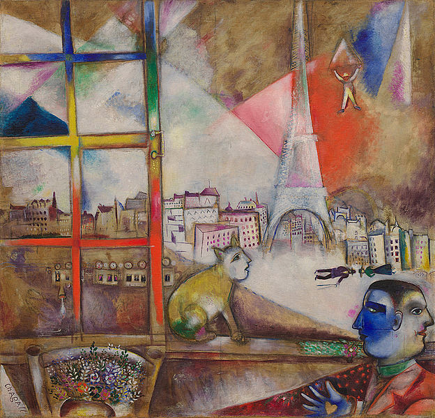 Paris par la fenetre by Marc Chagall 1913
