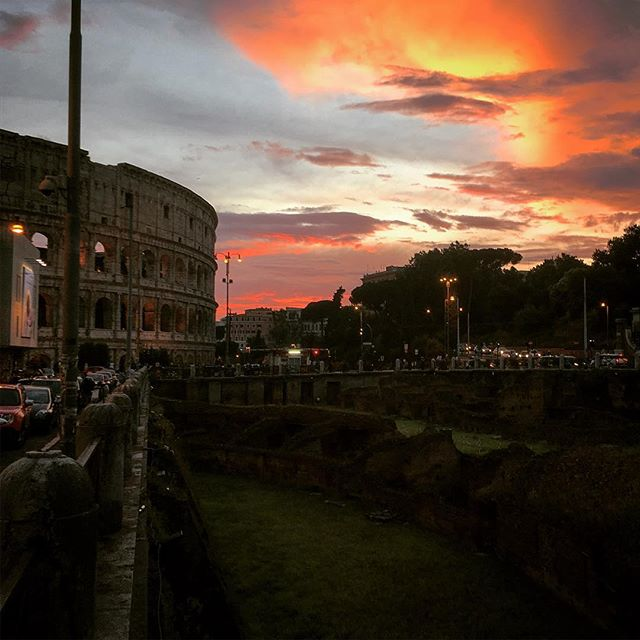 My sunset in Rome
